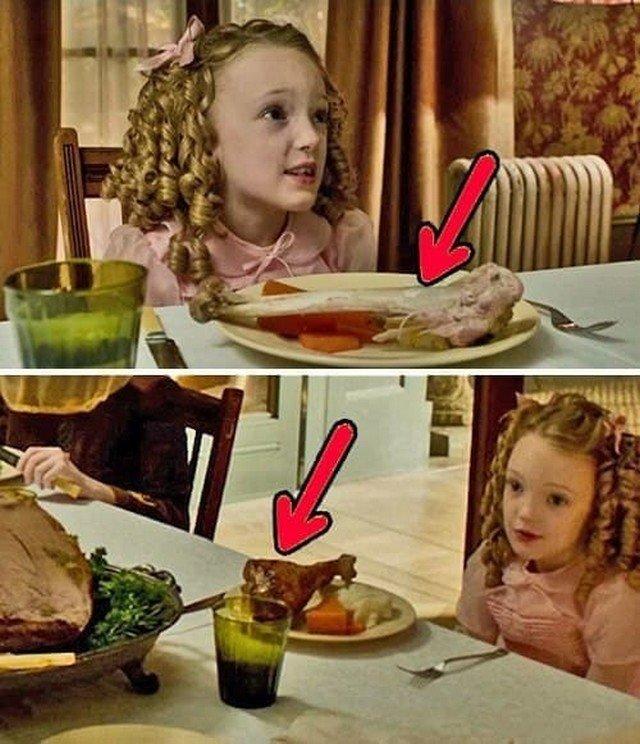 """""""Дом странных детей мисс Перегрин"""":  В сюжете «за столом» огромный кусок мяса в один из моментов восстанавливается."""