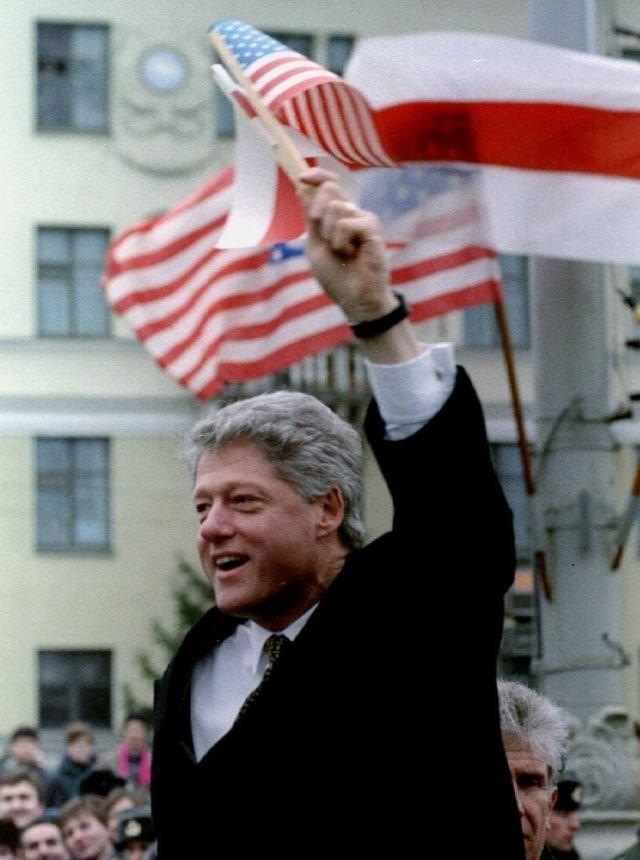 Билл Клинтон в Минске, 1994 год.