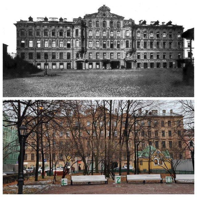 Театральная площадь, 2 / Декабристов, 32Дом Ф.Л. Гуна1878 и 2020