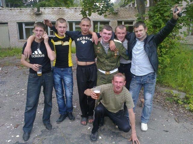 парни с пивом