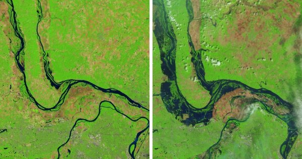 Наводнение рек Миссисипи и Иллинойс