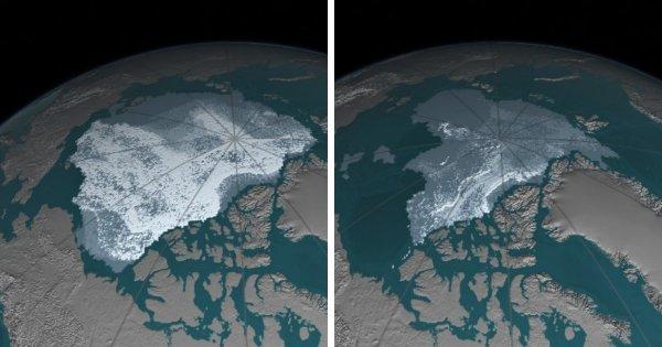 Сокращение арктического морского льда