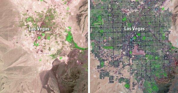 Рост города Лас-Вегас