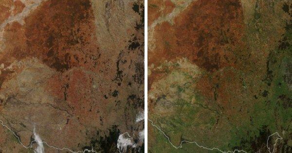 Юго-восточная часть Австралии зеленеет