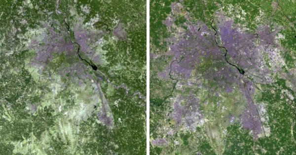 Рост города Нью-Дели, Индия