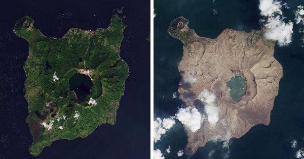 Пепел вулкана Таал покрывает филиппинский остров Лусон