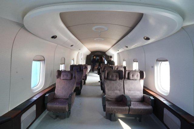 Сверхскоростной поезд в Китае - интерьер