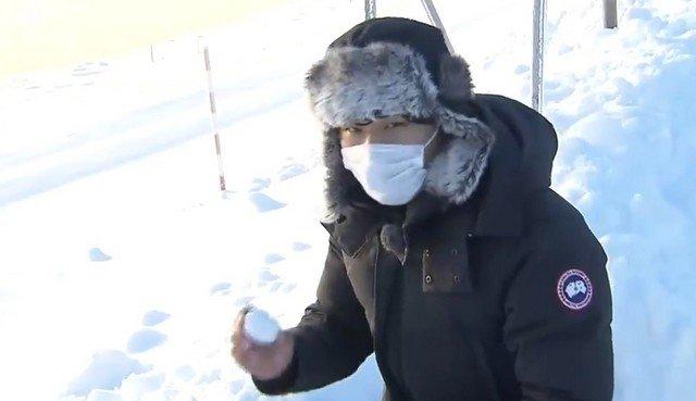 Как приготовить яичницу в Японии при морозе -27 градусов
