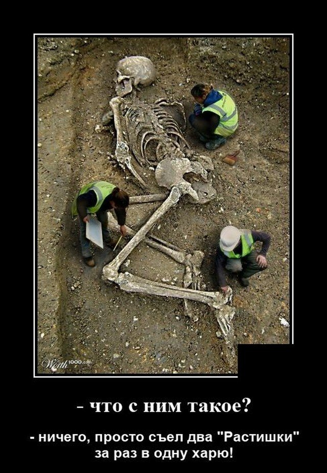 Демотиватор про раскопки