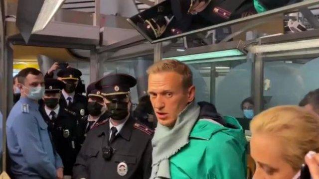 Алексея Навального задержали