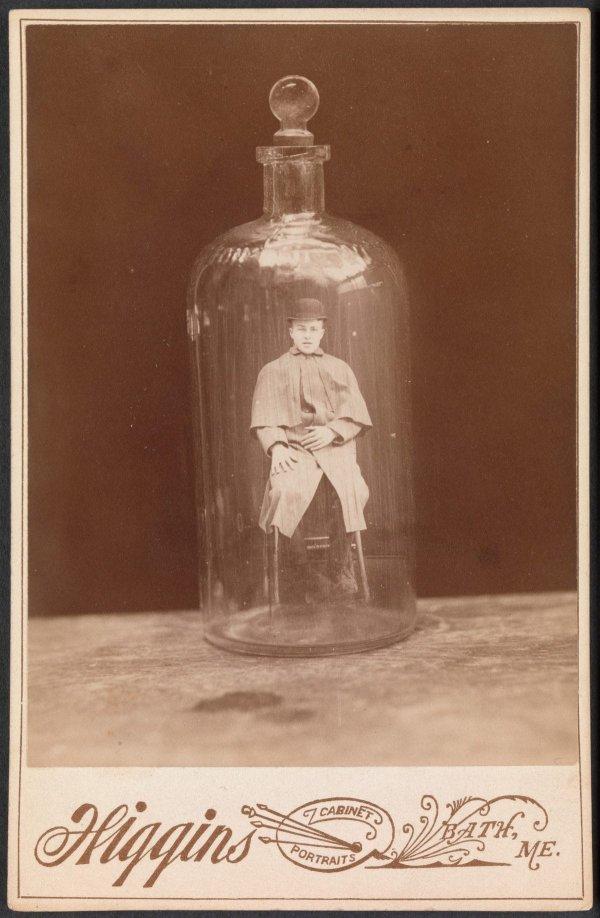 «Мужчина в бутылке», Джон Хиггинс, ~1888 год