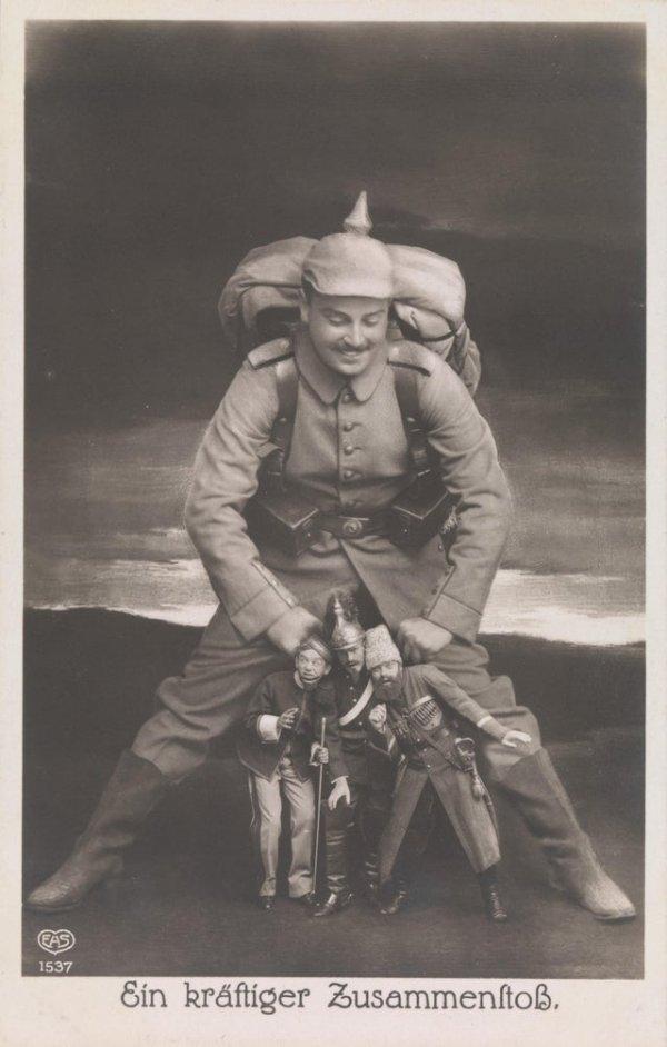 «Мощное столкновение», 1914 год