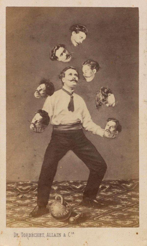 «Мужчина жонглирует своими головами», неизвестный автор, ~1880 год