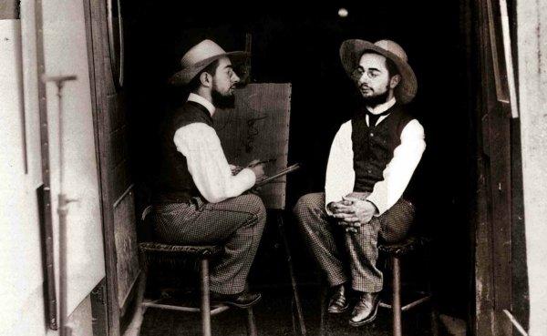 «Анри де Тулуз-Лотрек как художник и как модель», Морис Гибер, 1891 год