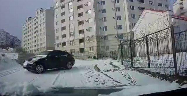 Водитель, которому удалось уйти от столкновения