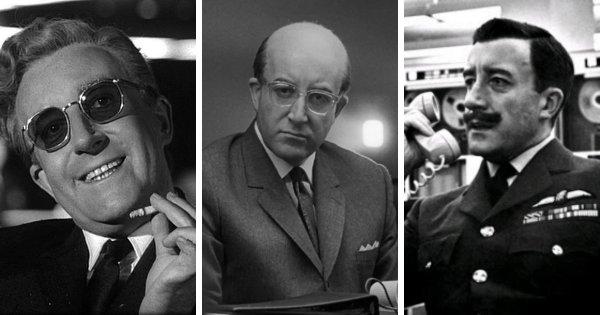 Питер Селлерс — «Доктор Стрейнджлав, или Как я перестал бояться и полюбил бомбу» (1964)