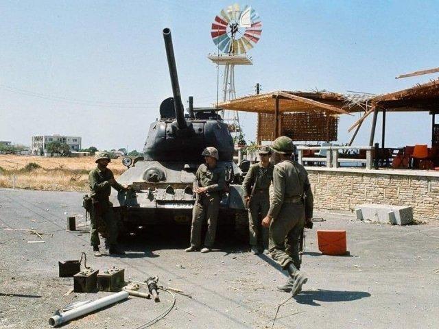 Греческий Т-34 на Кипре. Турецкое вторжение, июль 1974 года.