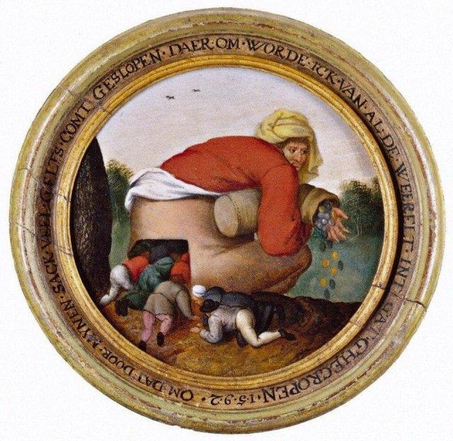 Питер Брейгель Младший «Льстецы», 1592 год.