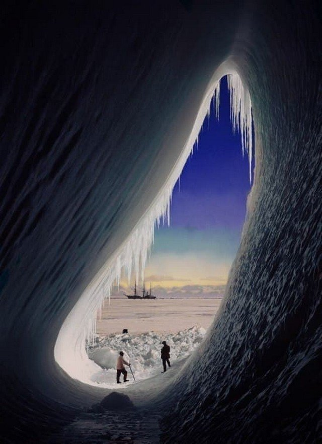 Экспедиция Роберта Скотта, 1910г. Роберт Скотт — один из первооткрывателей Южного полюса.
