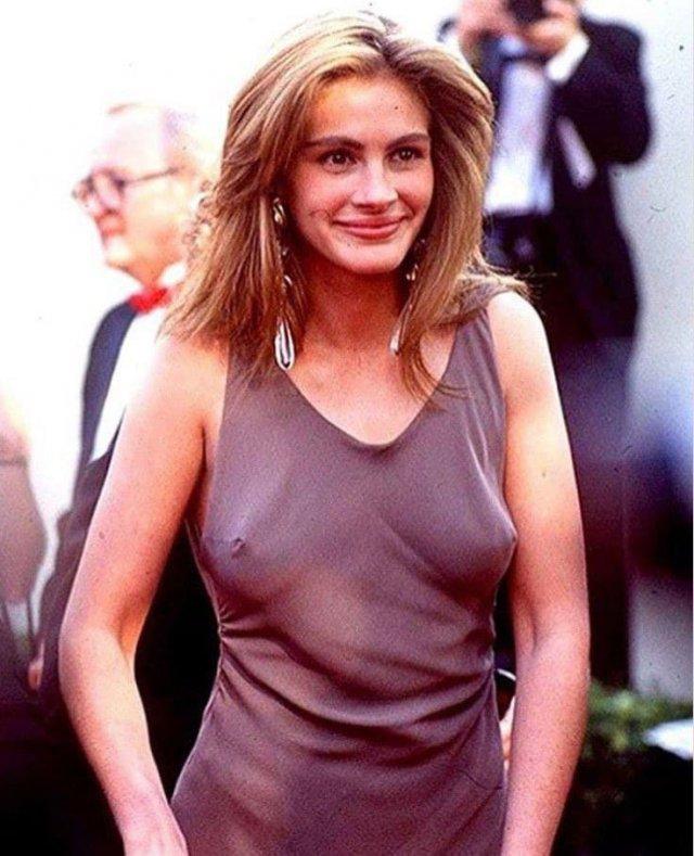 Джулия Робертс на церемонии вручения «Оскар», 1990 год.