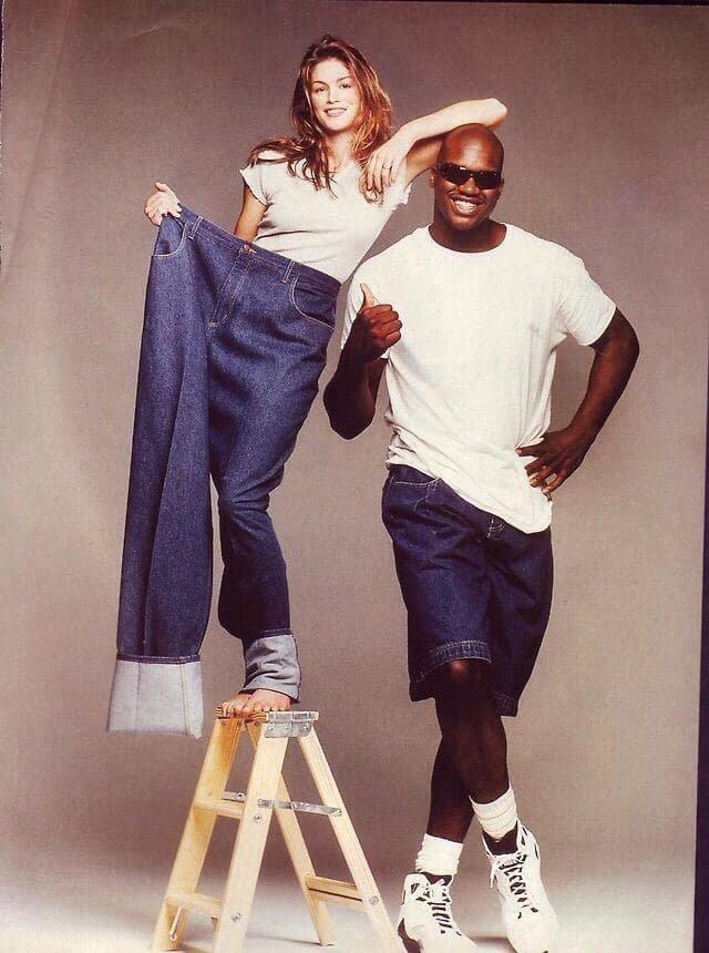 Синди Кроуфорд и Шакил О'Нил, 1990-е.