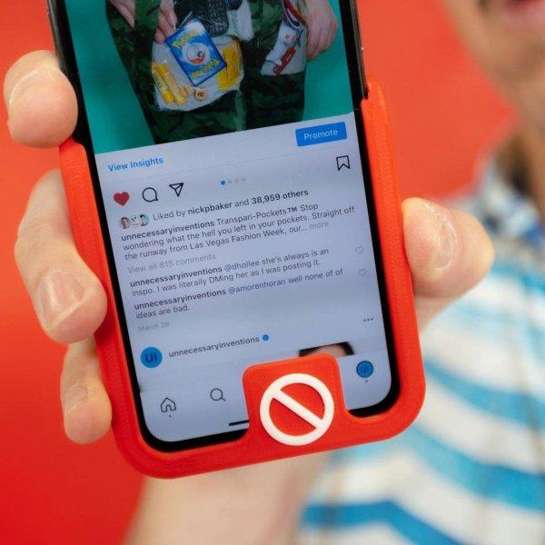 Чехол, который спасает его обладателя от случайного нажатия кнопки «Купить» в Instagram