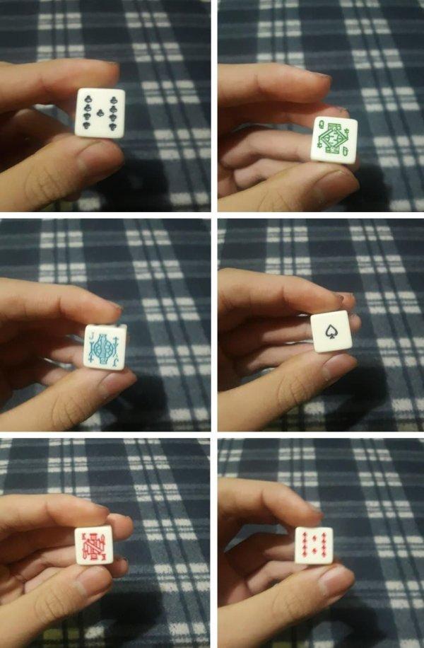 игральные кости для покера