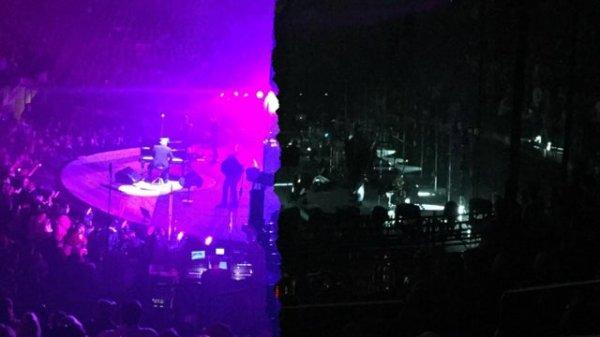 Момент, когда на концерте сменилось освещение