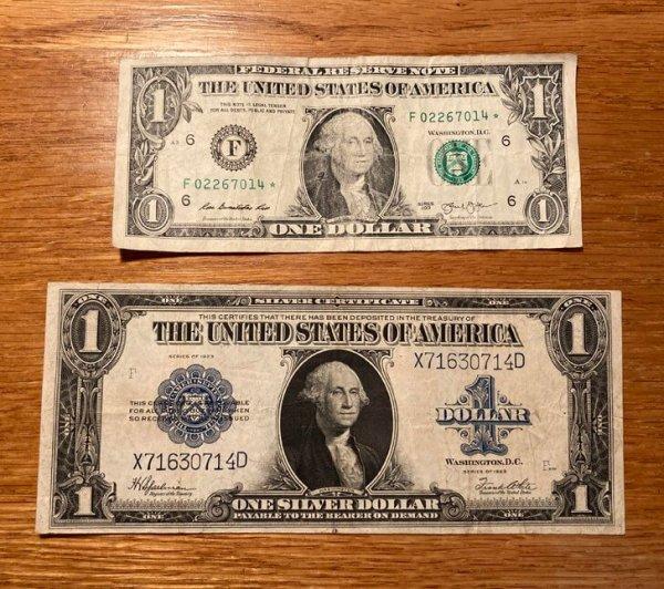 До 1928 года долларовые купюры были чуть крупнее (на 32,5 мм в длину и на 13 мм в ширину)