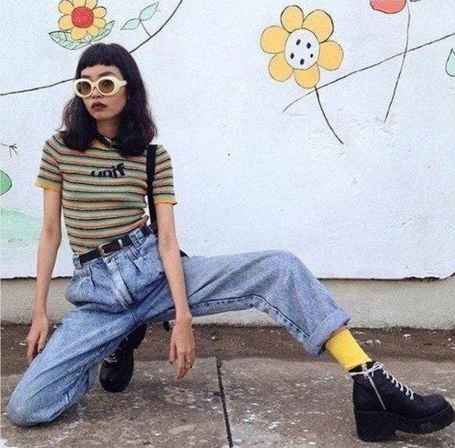Модница в 90-х.