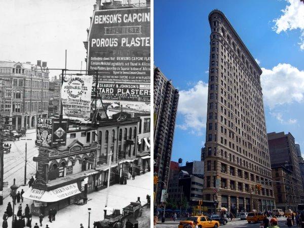 Соединение Бродвея, Пятой авеню и восточной 23-й улицы в Нью-Йорке