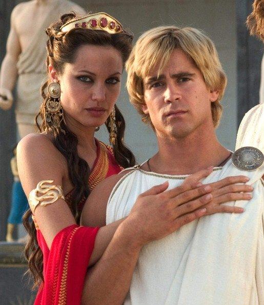 Анджелина Джоли и Колин Фаррелл в «Александре»