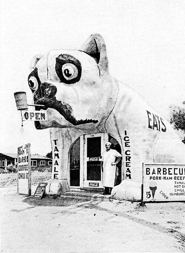 Закусочная в Лос-Анджелесе, 1934 год.