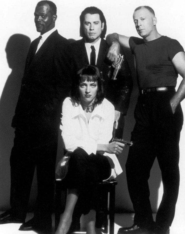 С. Л. Джексон, Д. Траволта, У. Турман, Б. Уиллис, CША, 1993 год.