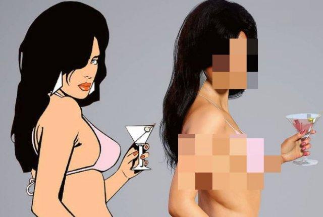 Как выглядела бы брюнетка из GTA: Vice City в реальной жизни