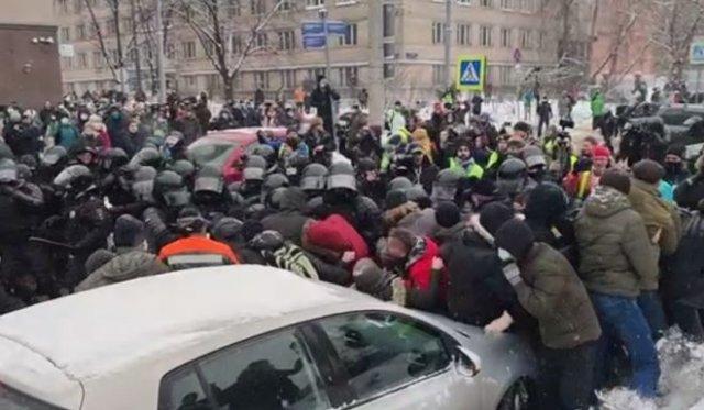 Митинги 31 января в разных городах