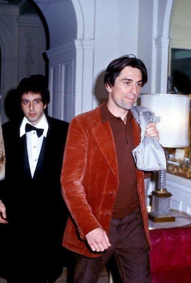 Легендарные Аль Пачино и Роберт Де Ниро, в начале 1980-х.