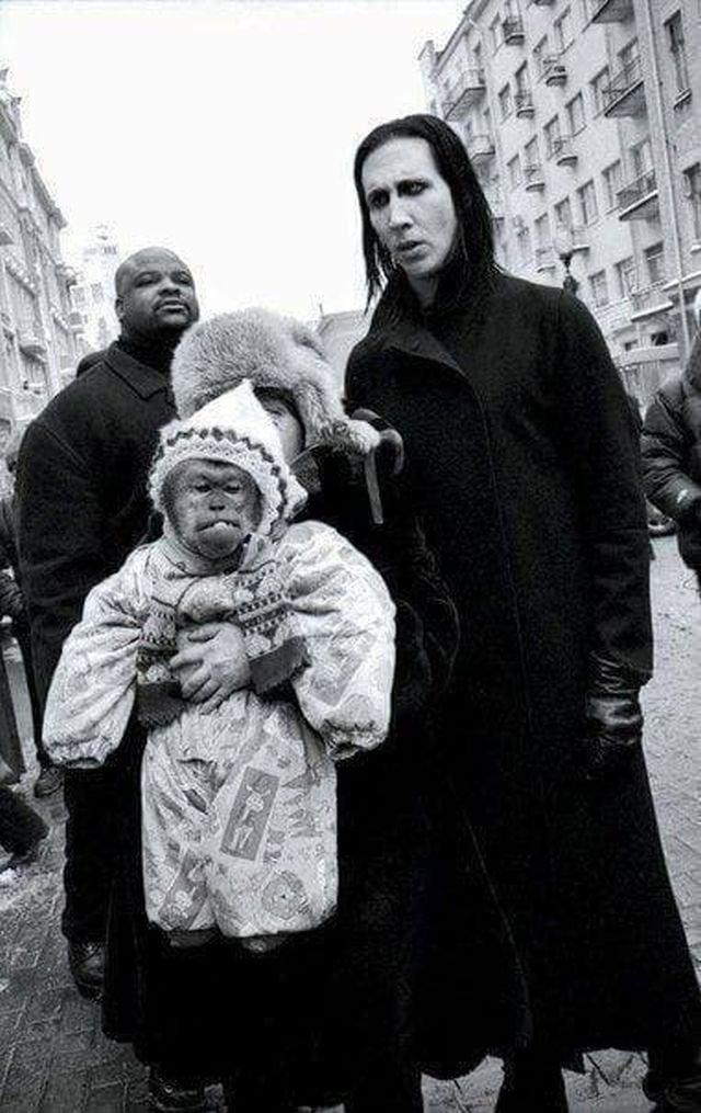 Мэрилин Мэнсон в Москве в 2001 году.