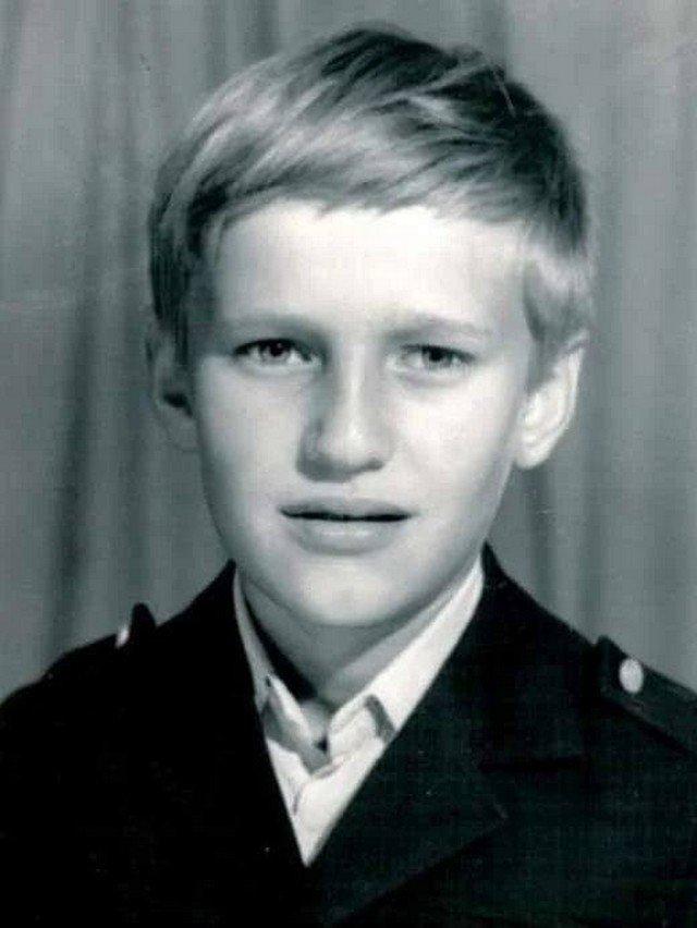 Алексей Навальный в детстве.