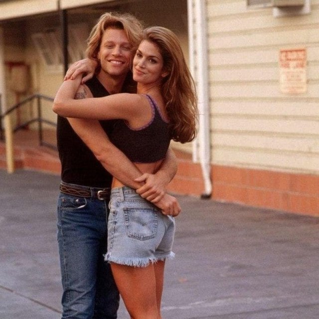 Джон Бон Джови и Синди Кроуфорд, сентябрь 1994 г.