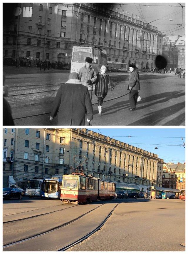 Площадь Ленина1989 и 2020 год.