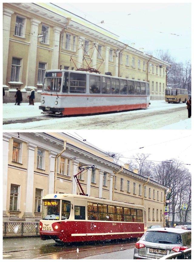 Садовая улица.1978 и 2020 год.