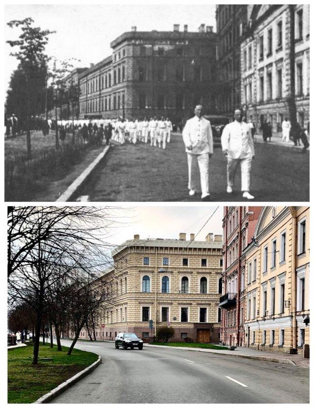 Парад физкультурников / Большая Морская улица.~1935 и 2020 год.