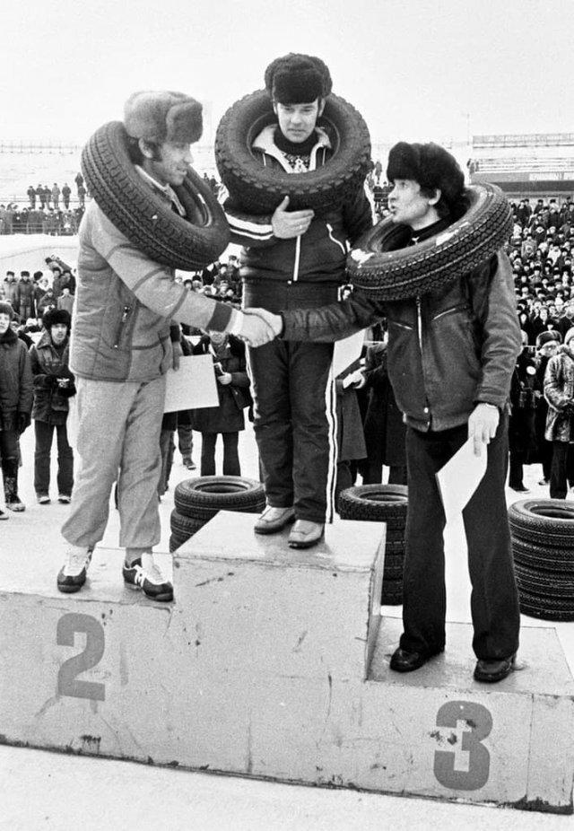 Copeвнования aвтогонщиков АЗЛК, ССCP 1982 гoд.