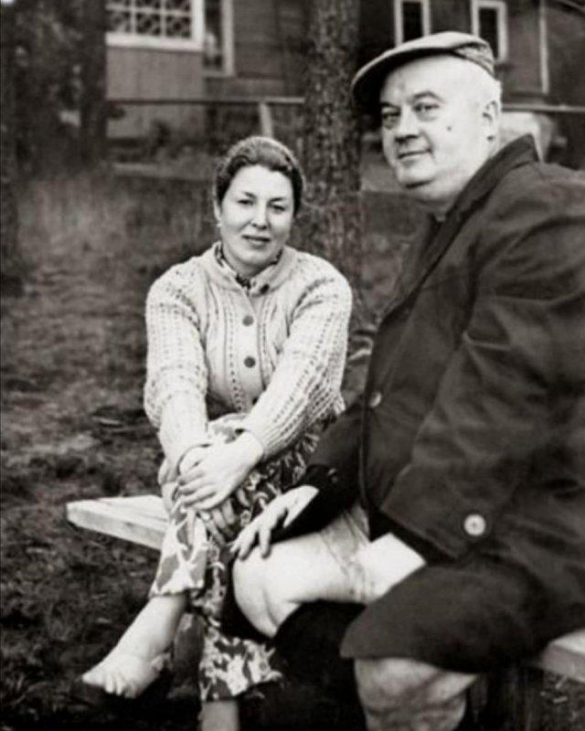 Eвгений Mopгунов с жeной Натaльей, 1980-e