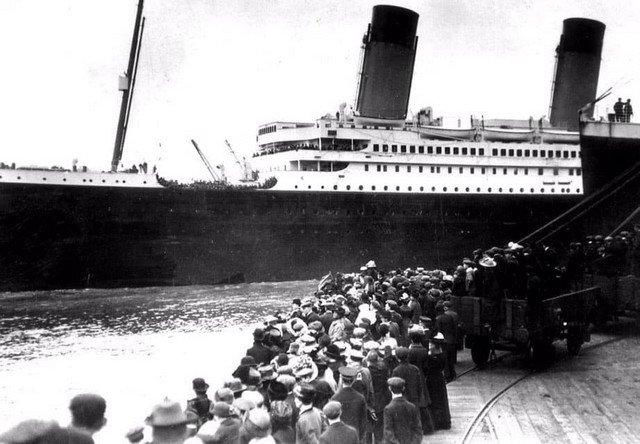 Отправление Титаника в его первый и последний рейс, Саутгемптон, 1912 год.