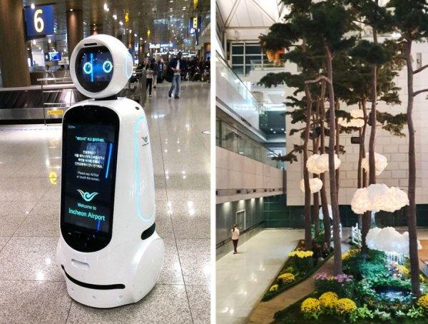Инчхон — огромный, красивый, современный аэропорт с милашкой роботом