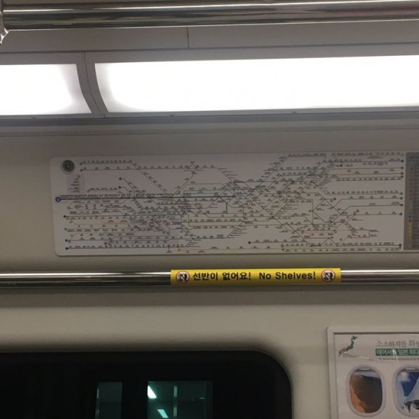 Понятная и совсем незапутанная схема метрополитена в Сеуле