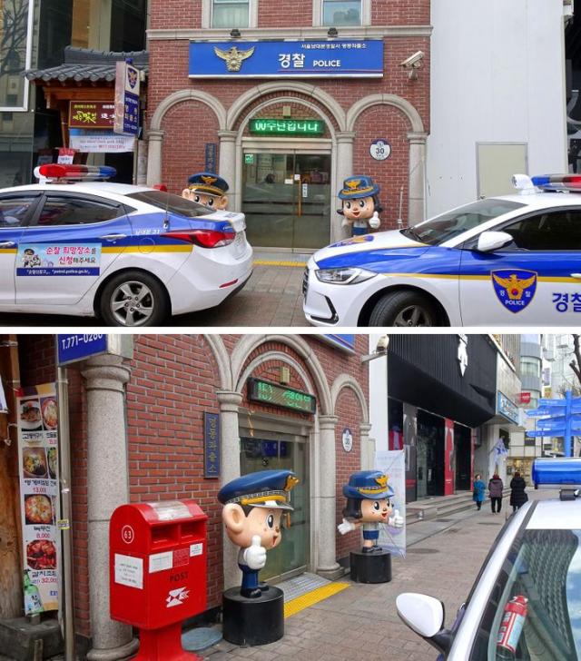 Да, так выглядит вход в полицейский участок.
