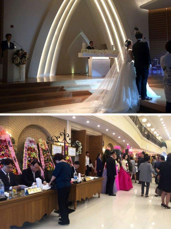Корейская свадьба длится по времени не больше часа.